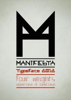 Manifesta typeface by Fermin Guerrero. Tumblr