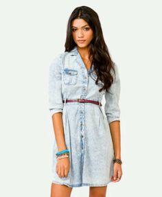 Blue jean dress <3 Forever21