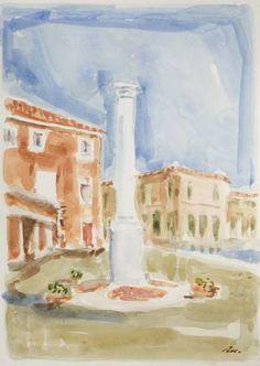 Original Landscape Painting by Dumitru Bostan Junior Watercolor Paper, Watercolor Paintings, Original Paintings, Original Art, Watercolors, Impressionism Art, Is 11, Buy Art, Venice
