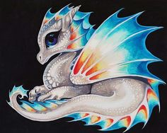 Art: Rainbow Dragonette by Artist Nico Niemi