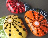 Beautiful handpainted rocks, turned into magnets! Part of my latest @Etsy treasury, which showcases twelve who paint river rocks and beach stones. #art #handmade #pure whimsy #design #gift ideas zentangl inspirationhandpaint, river rocks, rock magnet, painted stones, inspirationhandpaint rock, beauti handpaint, painted rocks, paint stone