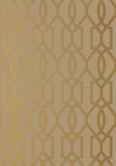 Downing Gate #wallpaper in #metallic #gold on #bark from the Neutral Resource collection. #Thibaut #Geometric