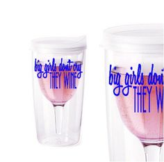 Wine To Go Personalized Cup Glass,  great for poolside, on the boat or favors for a bridal party