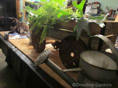 home made garden cart, flowers, gardening, repurposing upcycling, Fill with plants and enjoy