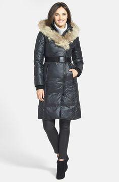 Rud by Rudsak 'Jasmine' Genuine Coyote Fur Trim Asymmetrical Coat available at #Nordstrom