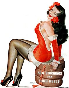Cover illustration for Wink Magazine, January 1949 (art by Peter Driben). #pinup #vintage #1940s