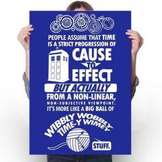 Timey Wimey Tee - Poster