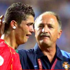 Cristiano Ronaldo after loosing Euro 2004 final against Greece.