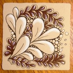 Beautiful tangled Renaissance Tile by CZT, Barb ~