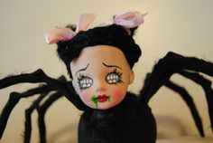 custom OOAK living dead doll spider lovely by sheepiedemondaycare