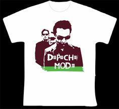 """Depeche Mode R$ 35,00 + frete Todas as cores Personalizamos e estampamos a sua ideia: imagem, frase ou logo preferido. Arte final. Telas sob encomenda. Estampas de/em camisas masculinas e femininas (e outros materiais). Fornecemos as camisas ou estampamos a sua própria. Envie a sua ideia ou escolha uma das """"nossas"""".... Blog: http://knupsilk.blogspot.com.br/ Pagina facebook: https://www.facebook.com/pages/KnupSilk-EstampariaSerigrafia/827832813899935?pnref=lhc https://twitter.com/KnupSilk"""
