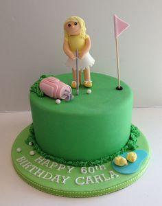Golf lady cake