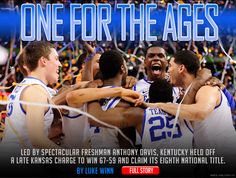 The Kentucky Wildcats NCAA 2012 Champions!  Go CATS!!!