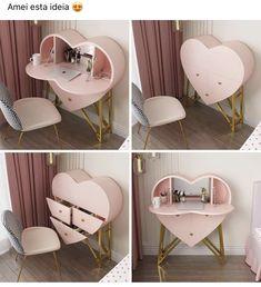 Room Design Bedroom, Girl Bedroom Designs, Room Ideas Bedroom, Home Room Design, Home Interior Design, Study Room Decor, Cute Room Decor, Home Decor Furniture, Furniture Design