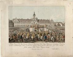 Feierlichkeiten bei der Krönung Kaiser Leopolds zum König von Ungarn 1790 in Pressburg | Carl Schütz - Europeana Kaiser, Painting, Art, Celebrations, Hungary, Art Background, Painting Art, Kunst, Paintings