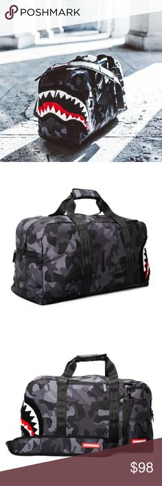 SPRAYGROUND DUFFLE BAG BRAND NEW COMES IN PACKAGE WITH TAGS. Bags Duffel Bags Duffel Bags, Fashion Design, Fashion Tips, Fashion Trends, Designer Handbags, Brand New, Tags, Awesome, Accessories