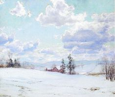 Ombre de nuages, aquarelle de Walter Launt Palmer (1854-1932, United States)