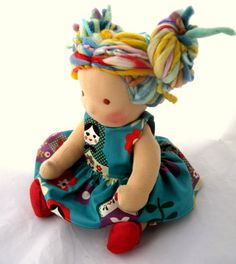 Calliope 16 inch Waldorf doll with Dreadlocks by TumbleberryToys, $130.00