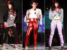 """Há alguns dias rolou o Hello Kitty Fashion Show, um desfile inspirado na gatinha, que aconteceu na expo Three Apples, na Califórnia. Os estilistas/ marcas convidados foram: I Am Chubby Bunny, SugarMafia e Topsy Turvy Design.Esse desfile, além de ter looks masculinos, teve a participação da própria Hello Kitty! hehehe Eu tenho essa t-shirt """"i love nerds""""!!!! hihihii Fotos de Rony e Michelle"""