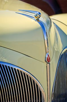 1941 Lincoln Continental Cabriolet V12 Grille - Car Images by Jill Reger