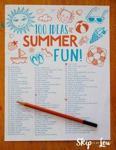 100 summer activitie