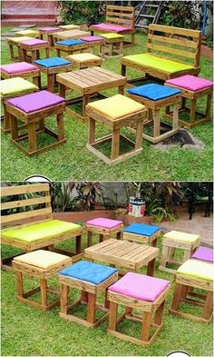 Majestic recycling ideas with old wooden pallets A lot of old-fashioned outdoor furniture . Majestic recycling ideas with old wooden pallets An old-fashioned concept for the design of garden Used Outdoor Furniture, Pallet Garden Furniture, Recycled Furniture, Diy Furniture, Rustic Furniture, Furniture Layout, Furniture Movers, Furniture Logo, Furniture Storage