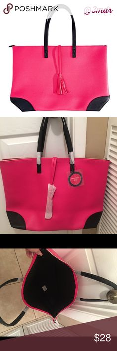 Reduced ‼️ Hot Pink Overnight Bag Hot Pink 🎀 Overnight Bag NWT 👜 Bundle and Save 👜Ask Questions 👜Reasonable Offers Welcomed Bags Shoulder Bags