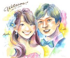 ウェルカムボードお描きしました素敵なお式だったみたいです(_) 個人的には新婦さまの髪の毛を描くのが楽しかったです笑 #watercolor #painting #paint #portrait #wedding #weddingboard #happy #bridal #groom #caricature #似顔絵 #ウェルカムボード #水彩 #結婚式 #水彩画 #人物画 #colorful #rainbow by haruka180cm