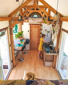 They wanted the financial flexibility to travel, adventure, and live off the land So they set off to build a timber-framed tiny house