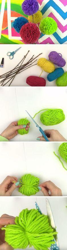 Pom Pom Flowers | Easy Crafts for Teen Girls to Make