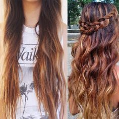 Ombre Braided Hairstyle Looks: Get Inspirations from Vpfashion Beauties ombre braided hairstyles braided ombre loose curls