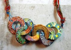 Rounds | Polymer Clay Necklace | Por: MargitB. | Flickr - Photo Sharing!