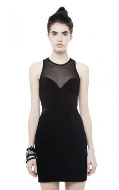Vestido de lycra negro corto