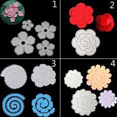 6Pcs Leaves Flowers Metal Cutting Dies For DIY Scrapbooking Album Paper Cards Ag