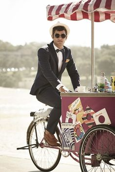 men's style classic suit.. bow tie with polka dots  love this picture
