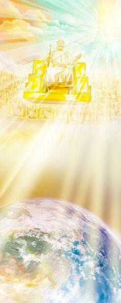 Jesucristo gobernando sobre la Tierra desde su trono en los cielos