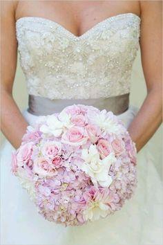 Brautstrauß Rosa Blumenmix
