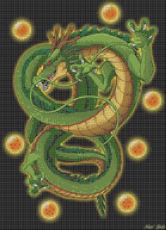 Dragonball Z Shenron (40 Colors) Cross Stitch Pattern