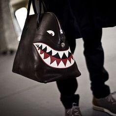 HERMÈS • The Hermès bolide relax shark bag seen at the men's AW16 fashion show…
