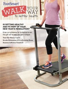 Is getting healthy and fit part of your New Year's resolution? Enter our giveaway for a chance to win this gift set to help you get in shape: Teez-Her Skinny Capris, Brooks Adrenaline GTS 15 Running Shoes and the Stamina InMotion Treadmill. Whether you want to start losing weight or simply enhance your wellness and happiness, we can help you take on the challenges of the new year in better health.