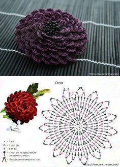 Watch The Video Splendid Crochet a Puff Flower Ideas. Phenomenal Crochet a Puff Flower Ideas. Freeform Crochet, Crochet Diagram, Crochet Chart, Irish Crochet, Crochet Motif, Diy Crochet, Crochet Ideas, Crochet Puff Flower, Crochet Flower Tutorial