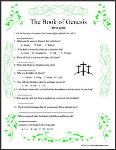 These Bible Games are for anyone that has general knowledge of the Bible. Bible Trivia, Bible Games, Trivia Games, Genesis Bible Study, Book Of Genesis, Best Study Bible, Bible Study For Kids, Youth Group Activities, Preschool Activities
