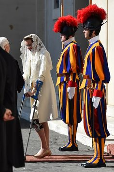 Queen Mathilde of Belgium leaves after a private audience of the Royal couple with Pope Francis on 09.03.2015 at the Vatican