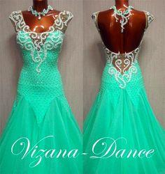 """Платье стандарт Юн-2 """"Мятное блаженство"""" Прокат-700 грн. Визана-Данс платья для спортивных бальных танцев"""