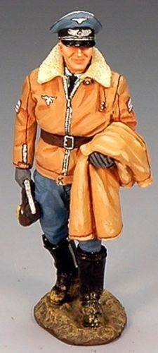 War II German Luftwaffe LW016 Major Gunther Rall - Made by King and Country Military Miniatures and Models. Factory made, hand assembled, painted and boxed in a padded decorative box. Excellent gift for the enthusiast.