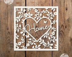 Love Flower Circle SVG PDF Papercutting por TommyandTillyDesign