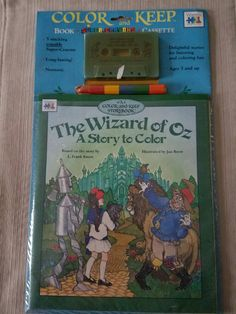 Wizard of Oz Color & Keep Book/Cassette by OzRoad on Etsy
