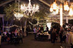 Urban Chandelier, Kristen Chandelier, Tree Lighting, Tent Lighting, Pinspotting - The Allan House | by IntelligentLightingDesign