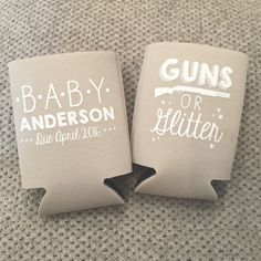 This was a fun twist on our classic Little Man or Little Miss design! Guns or…