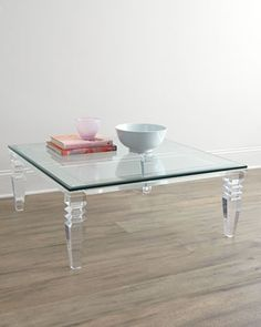 Christelle+Acrylic+Coffee+Table+by+INTERLUDE+at+Neiman+Marcus.